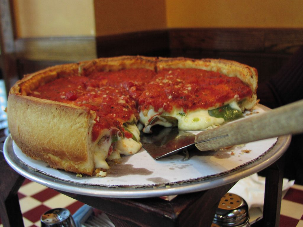 A picture of Chicago Deep Dish Pizza