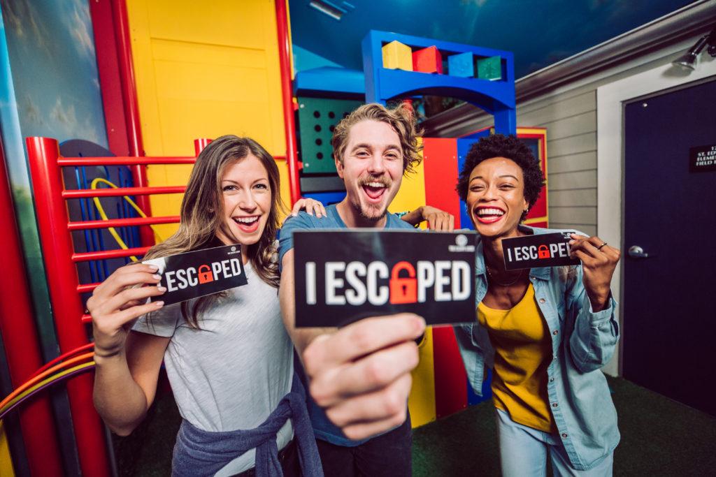I Escape Stickers in Playground Escape Room at The Escape Game