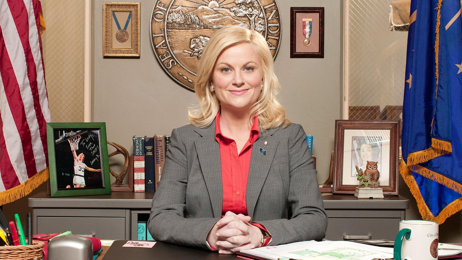 A picture of Leslie Knope from Parks and Rec
