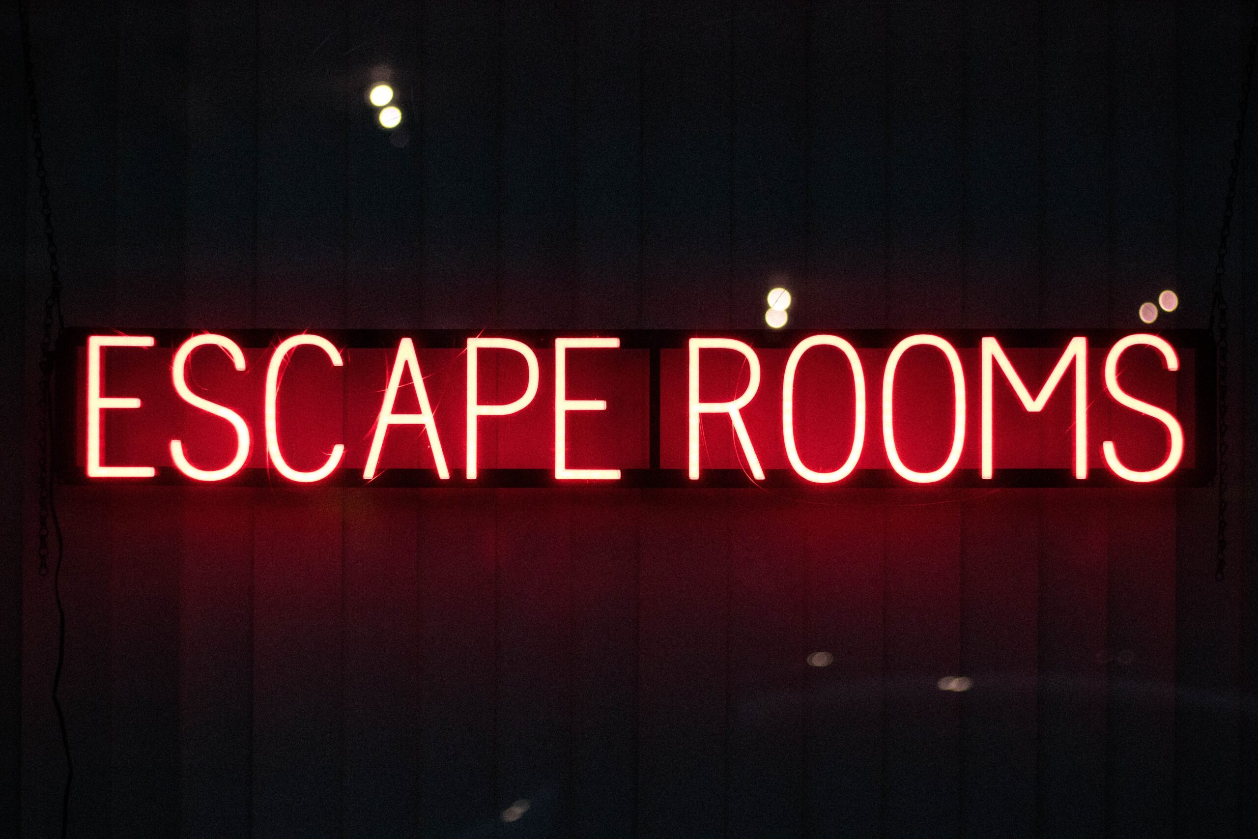 escape room neon sign