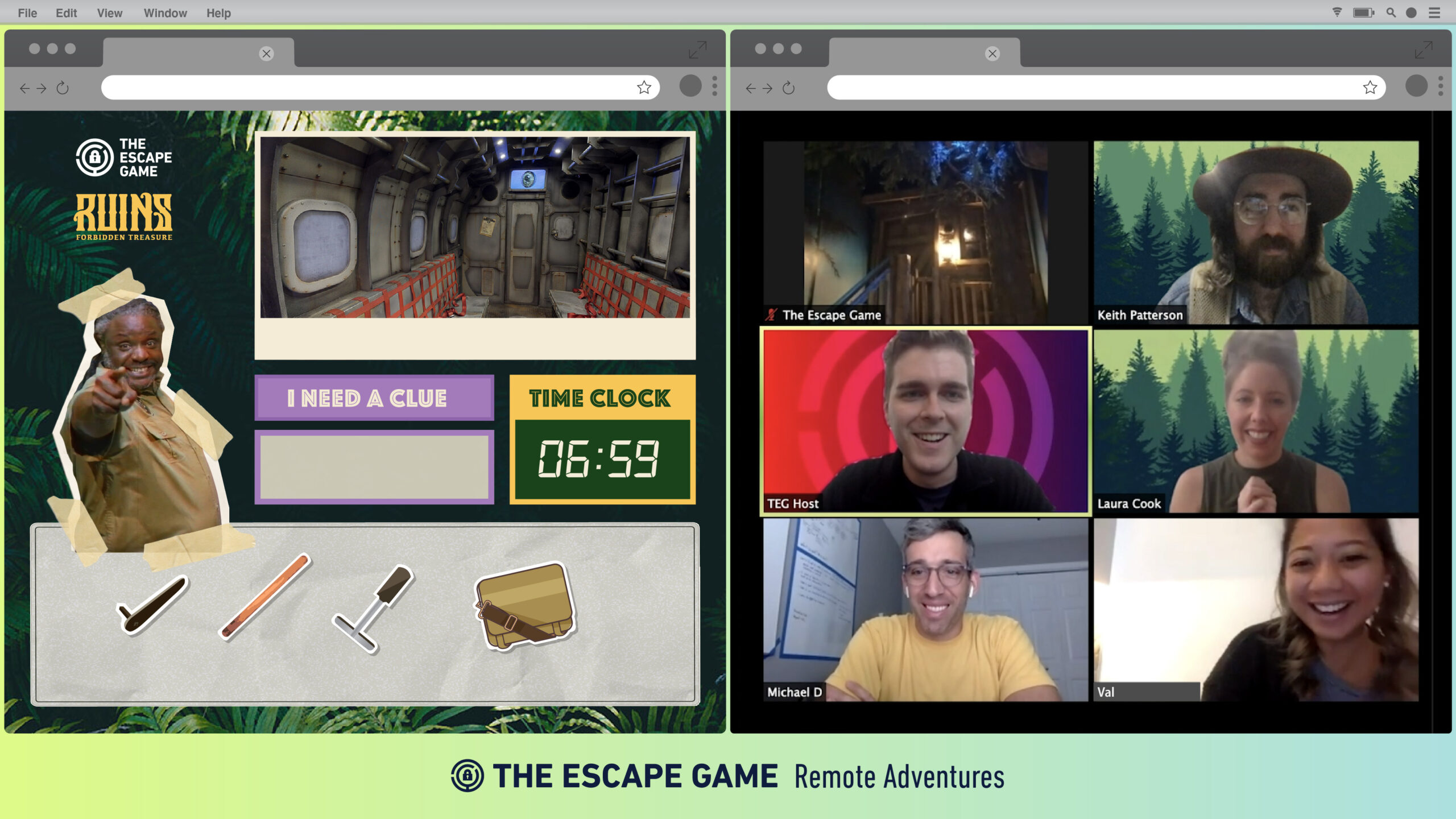 online escape room team building