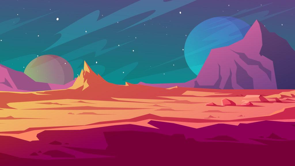 Mission Mars Zoom background